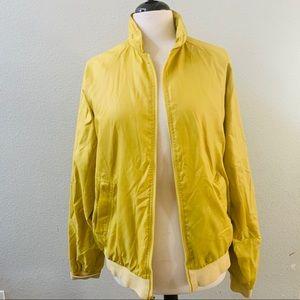 DUCKSTER vintage yellow retro mens windbreaker M
